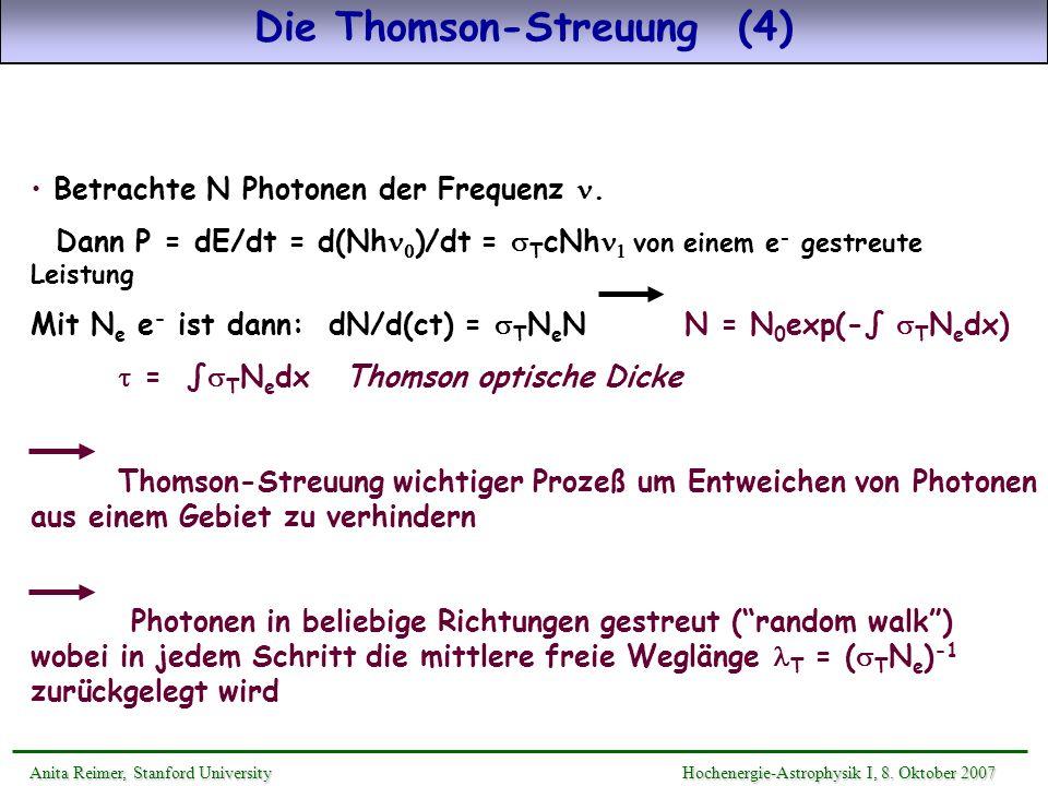 Die Thomson-Streuung (4)