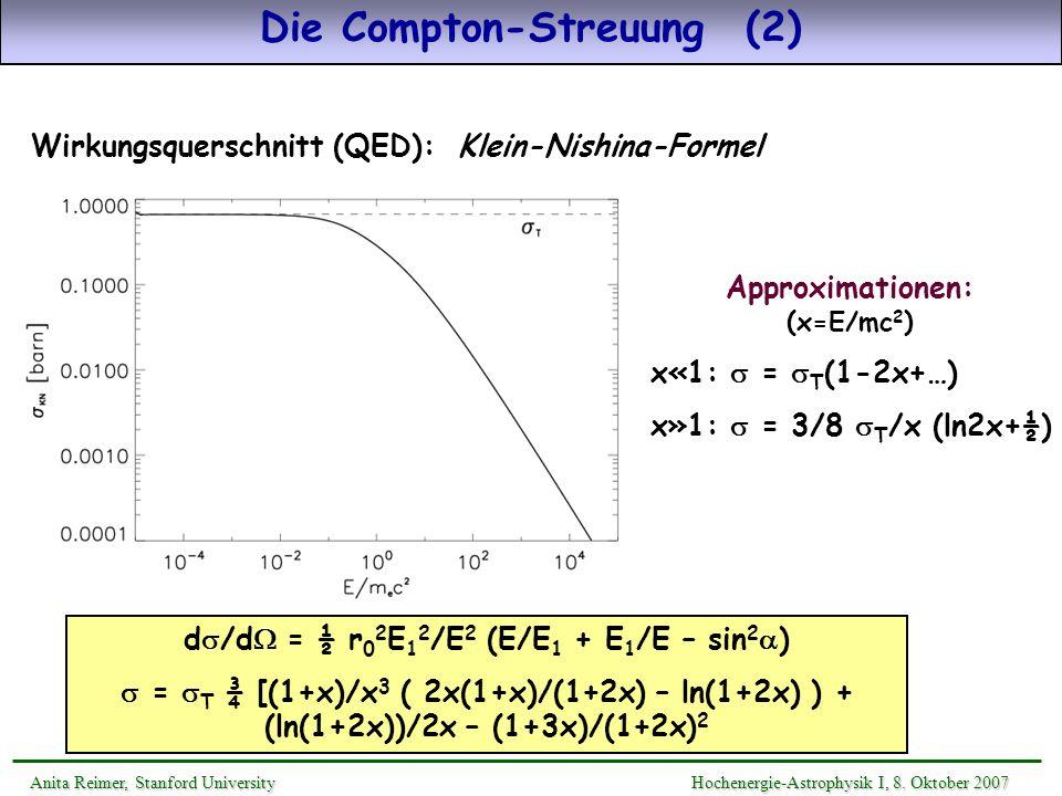 Die Compton-Streuung (2)