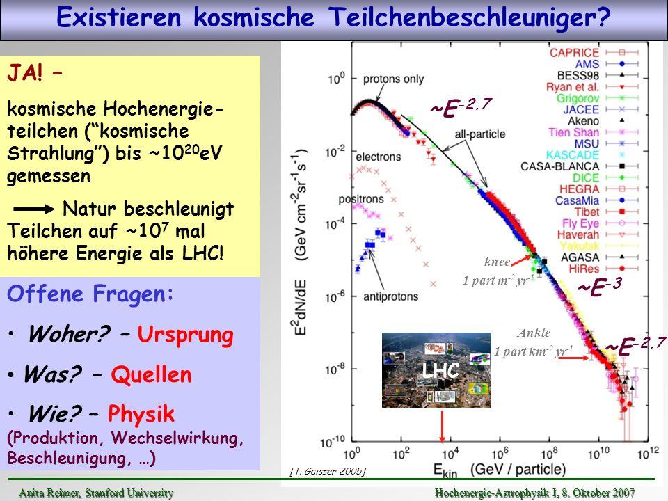 Existieren kosmische Teilchenbeschleuniger
