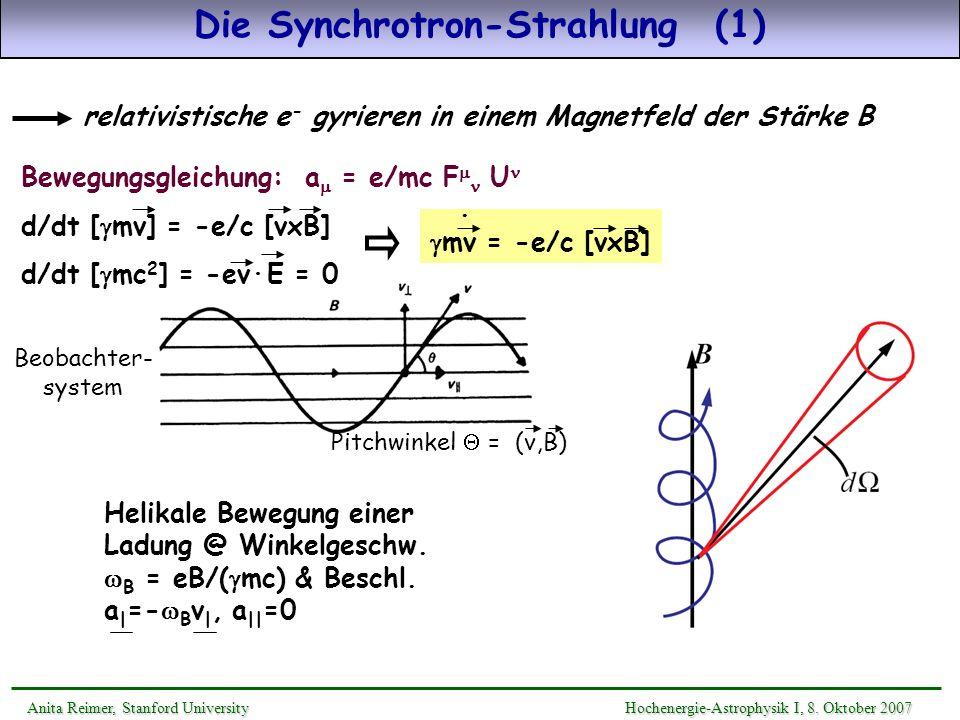 Die Synchrotron-Strahlung (1)