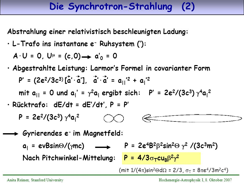 Die Synchrotron-Strahlung (2)