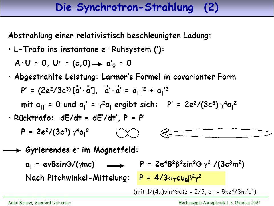 Die Synchrotron-Strahlung (2)