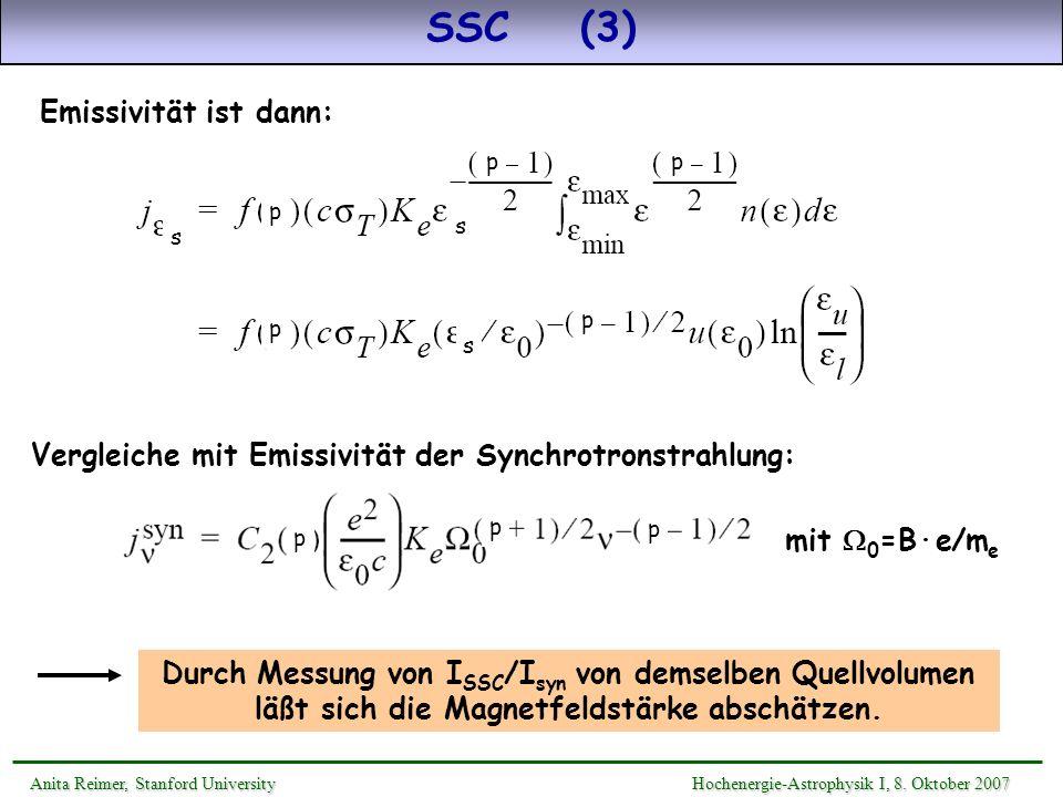 SSC (3) Emissivität ist dann: