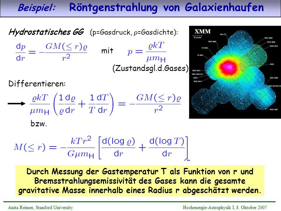 Beispiel: Röntgenstrahlung von Galaxienhaufen