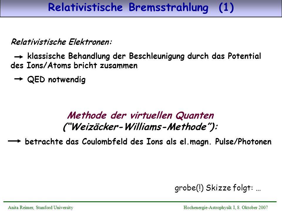 Relativistische Bremsstrahlung (1)