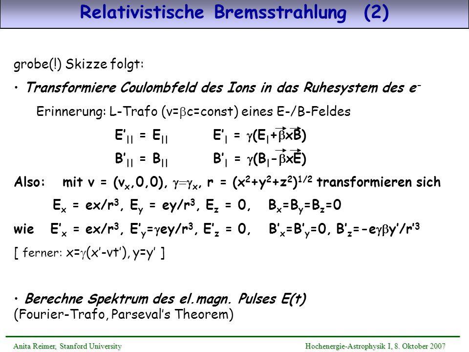 Relativistische Bremsstrahlung (2)