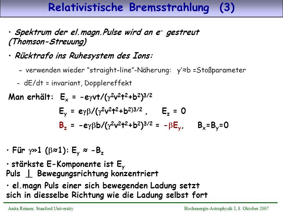 Relativistische Bremsstrahlung (3)