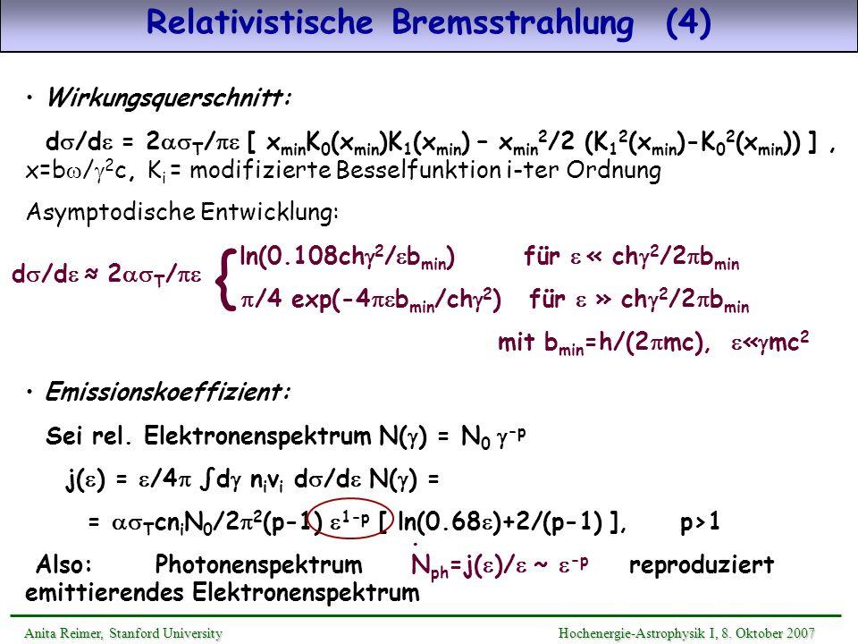 Relativistische Bremsstrahlung (4)