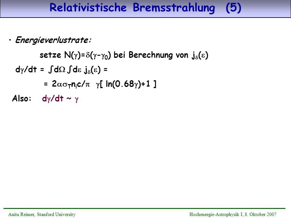 Relativistische Bremsstrahlung (5)