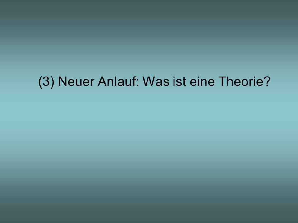 (3) Neuer Anlauf: Was ist eine Theorie