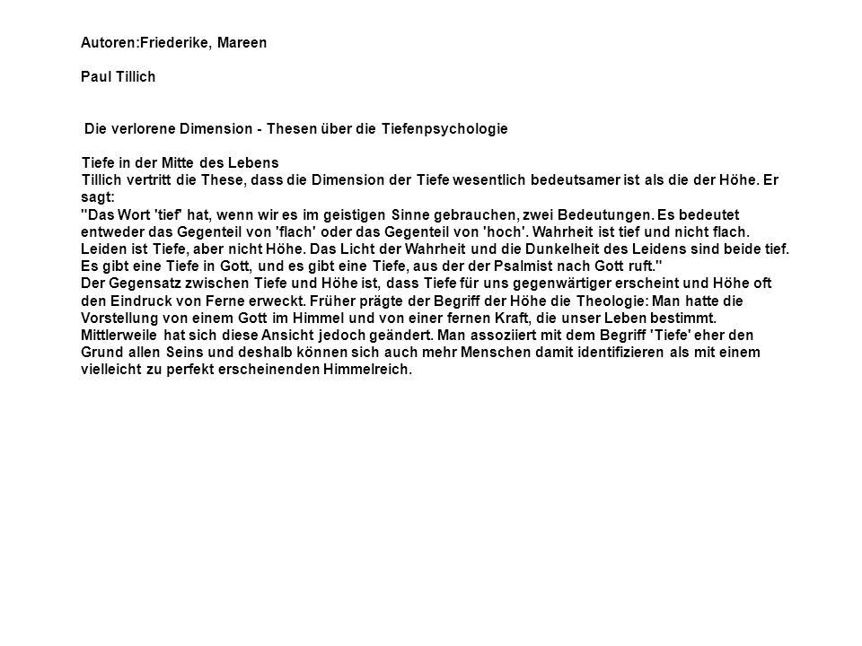 Autoren:Friederike, Mareen