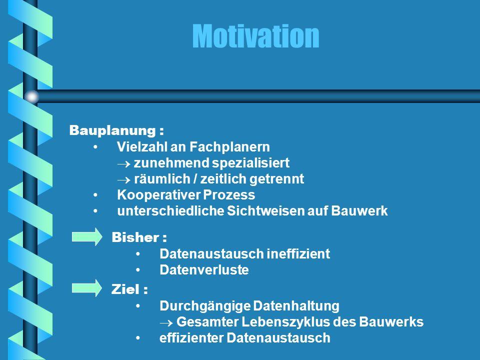 Motivation Bauplanung : Vielzahl an Fachplanern