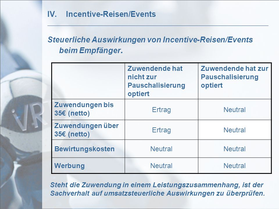 Incentive-Reisen/Events