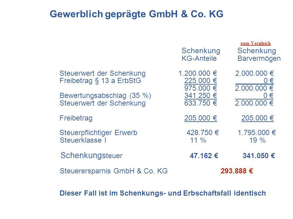 Gewerblich geprägte GmbH & Co. KG