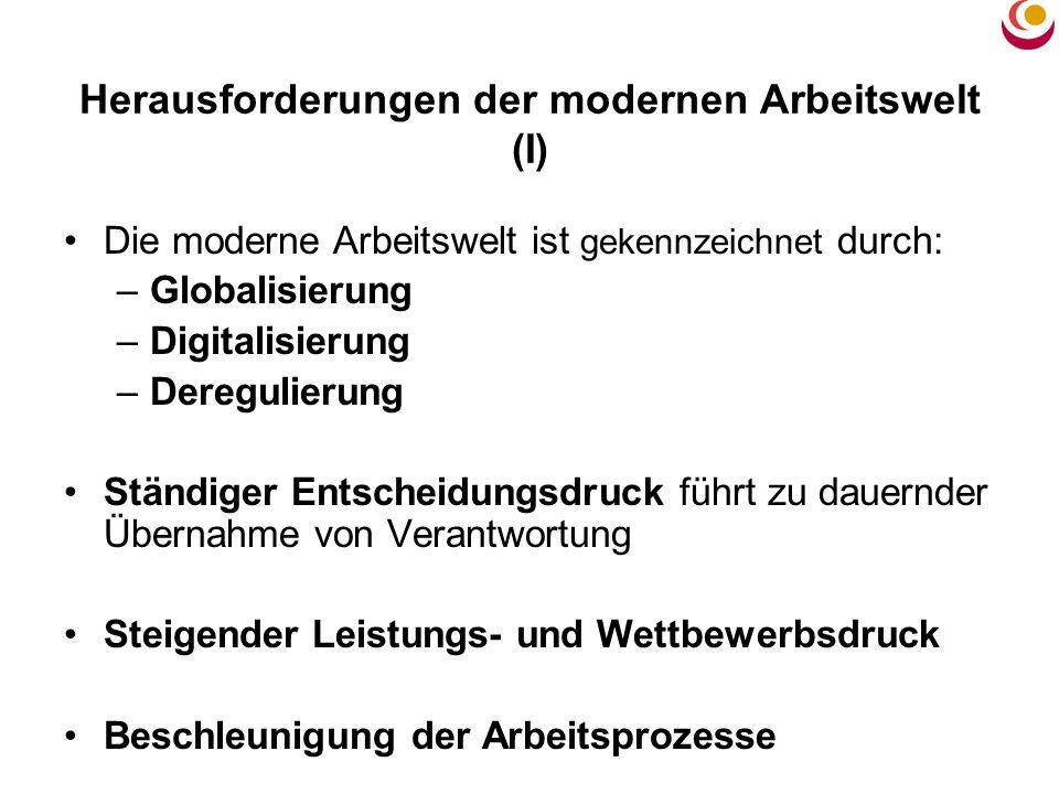 Herausforderungen der modernen Arbeitswelt (I)
