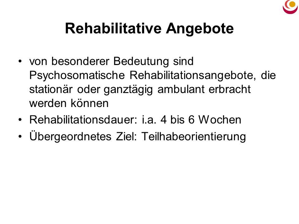 Rehabilitative Angebote