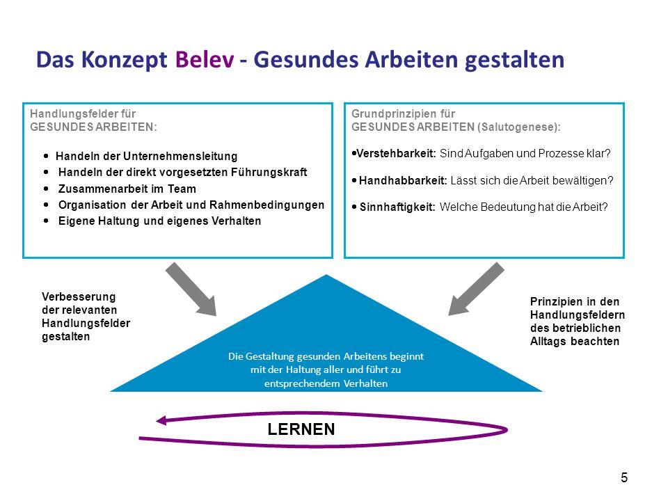 Das Konzept Belev - Gesundes Arbeiten gestalten