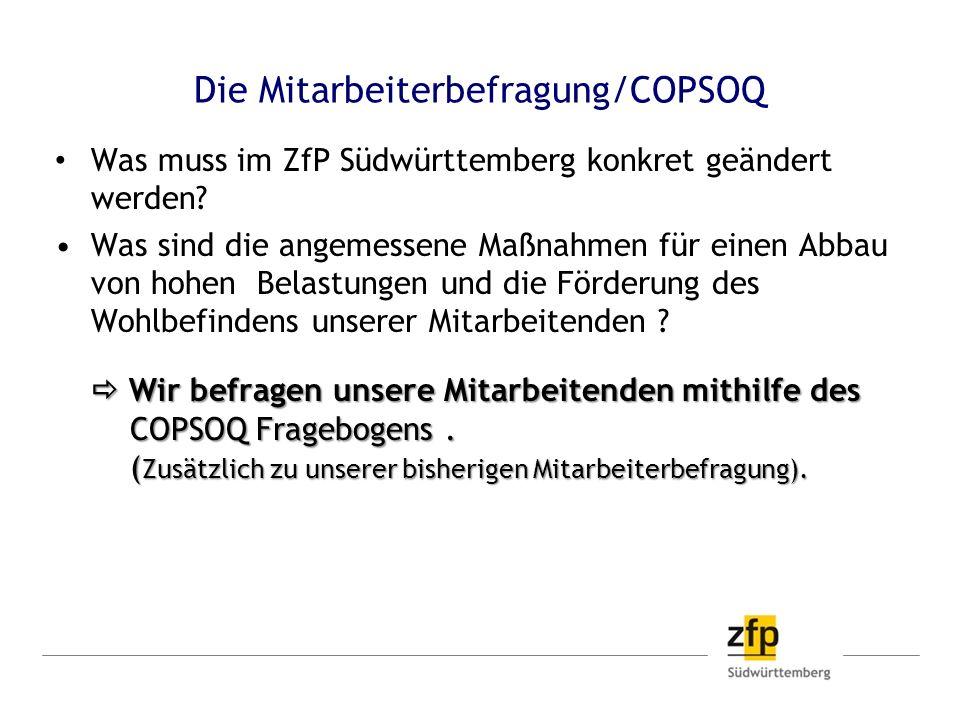 Die Mitarbeiterbefragung/COPSOQ