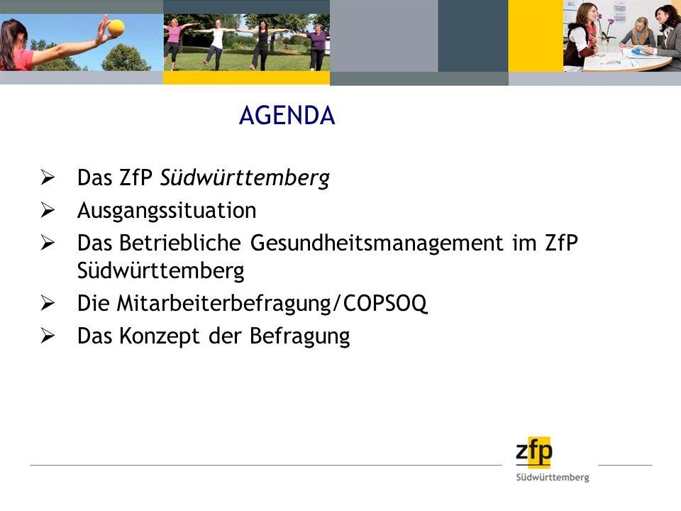 AGENDA Das ZfP Südwürttemberg Ausgangssituation