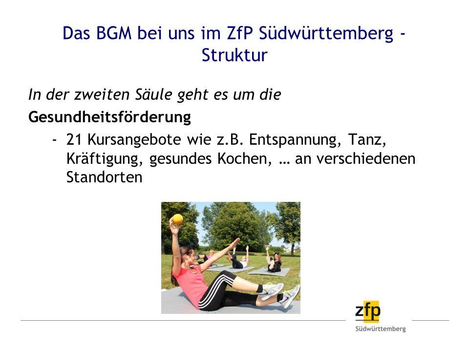 Das BGM bei uns im ZfP Südwürttemberg - Struktur