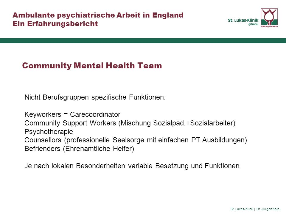 Community Mental Health Team
