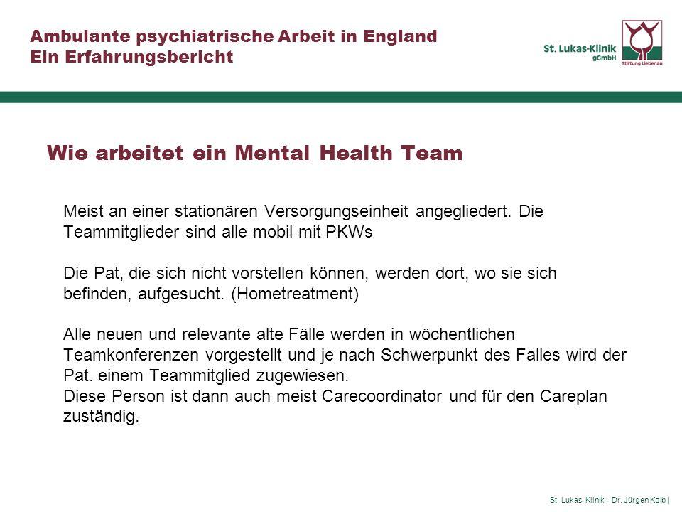Wie arbeitet ein Mental Health Team