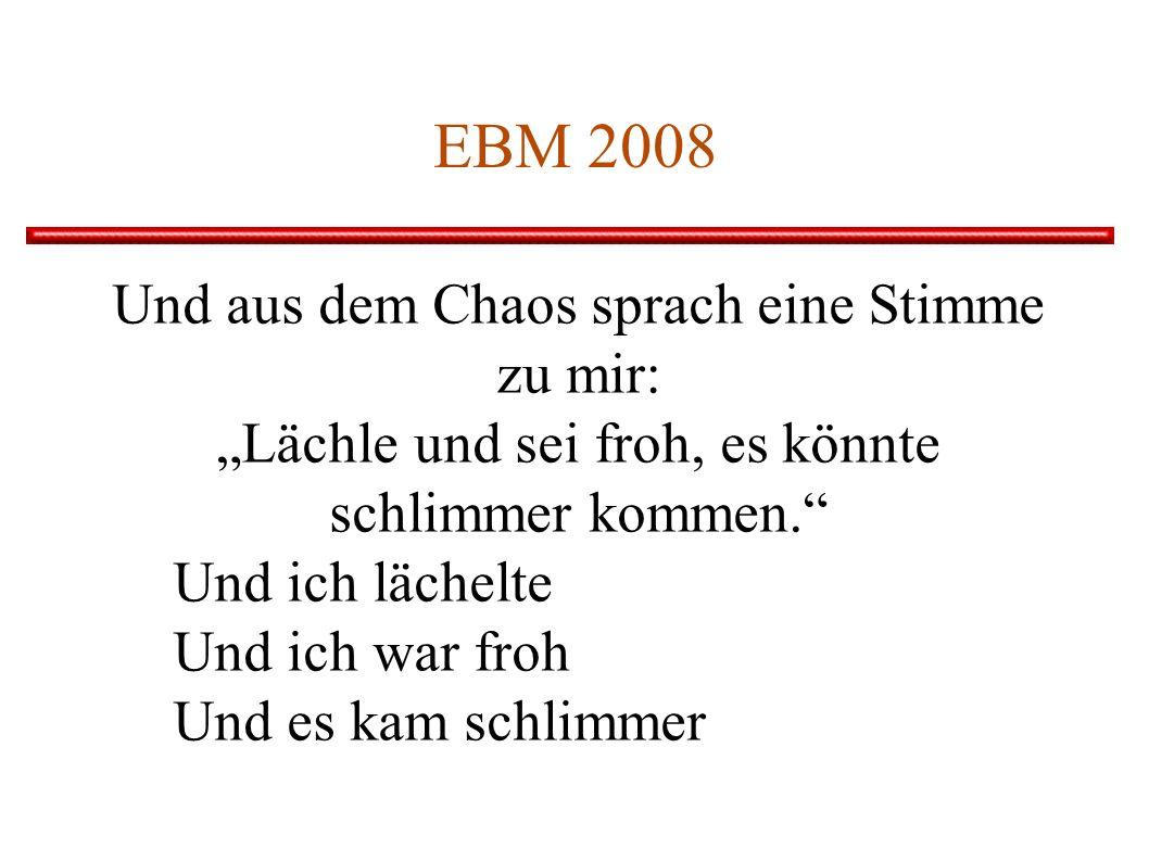 EBM 2008 Und aus dem Chaos sprach eine Stimme zu mir: