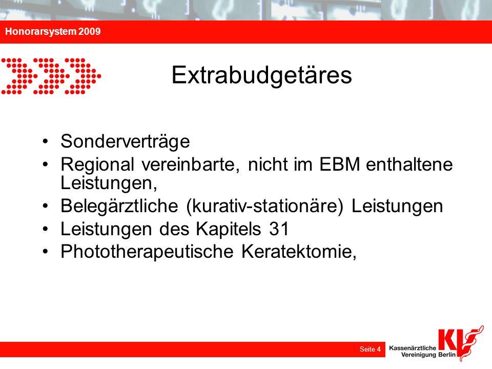 Extrabudgetäres Sonderverträge