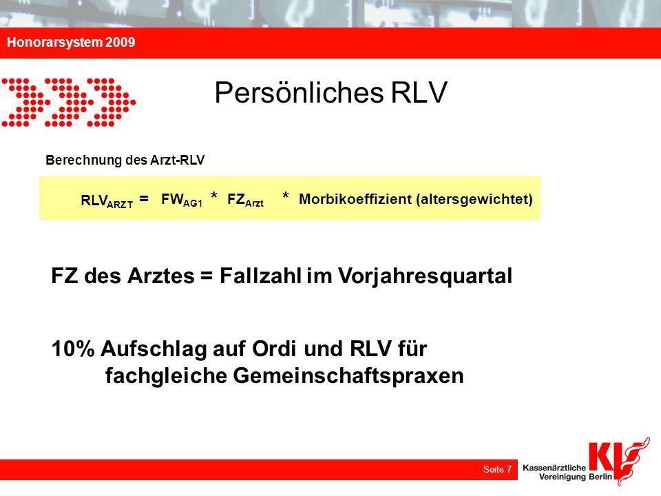 Persönliches RLV FZ des Arztes = Fallzahl im Vorjahresquartal