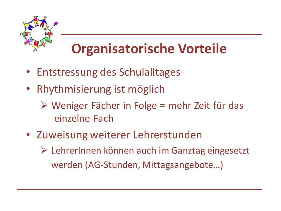 Organisatorische Vorteile