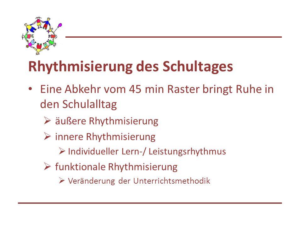 Rhythmisierung des Schultages