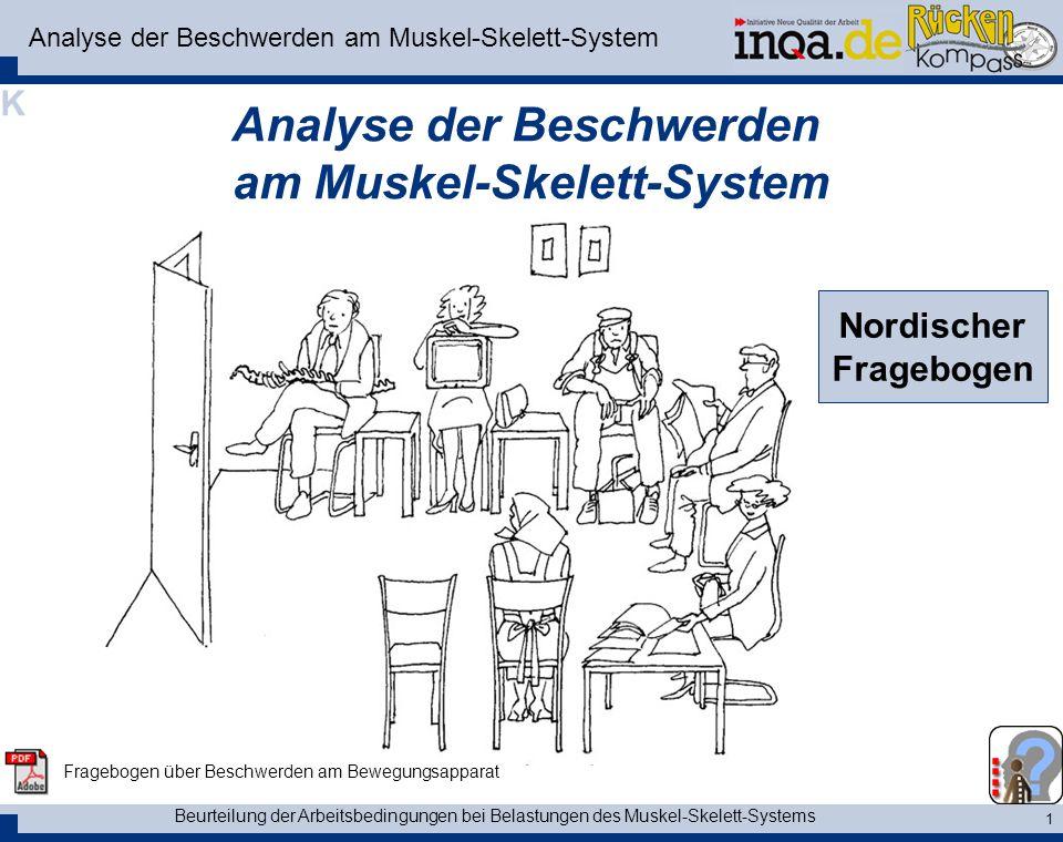 Analyse der Beschwerden am Muskel-Skelett-System