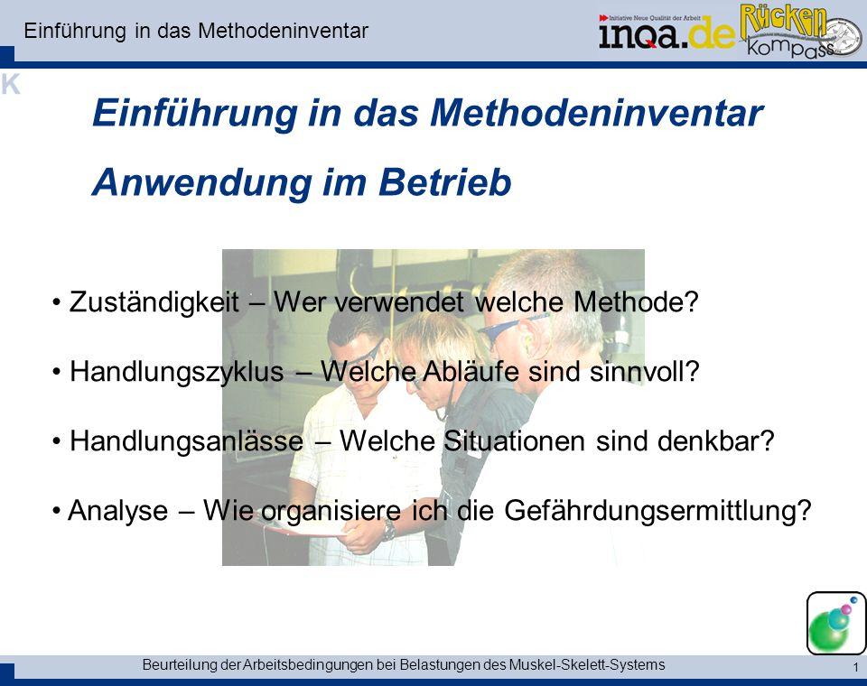 Einführung in das Methodeninventar