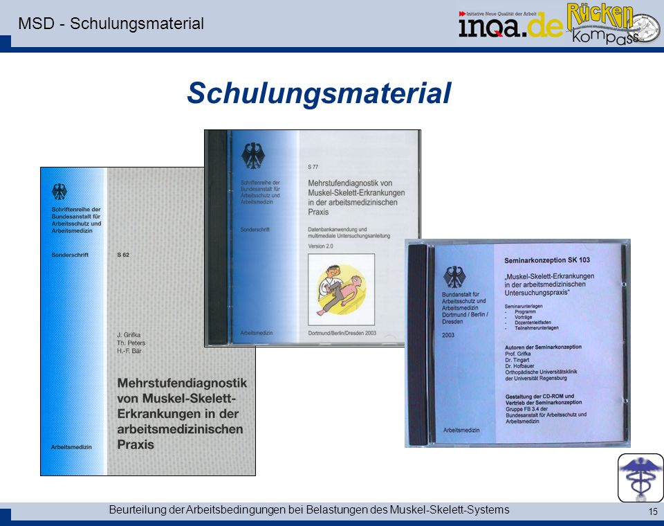 MSD - Schulungsmaterial