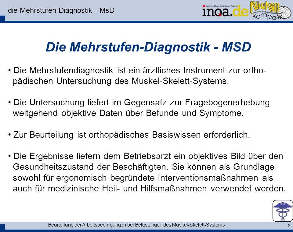 die Mehrstufen-Diagnostik - MsD
