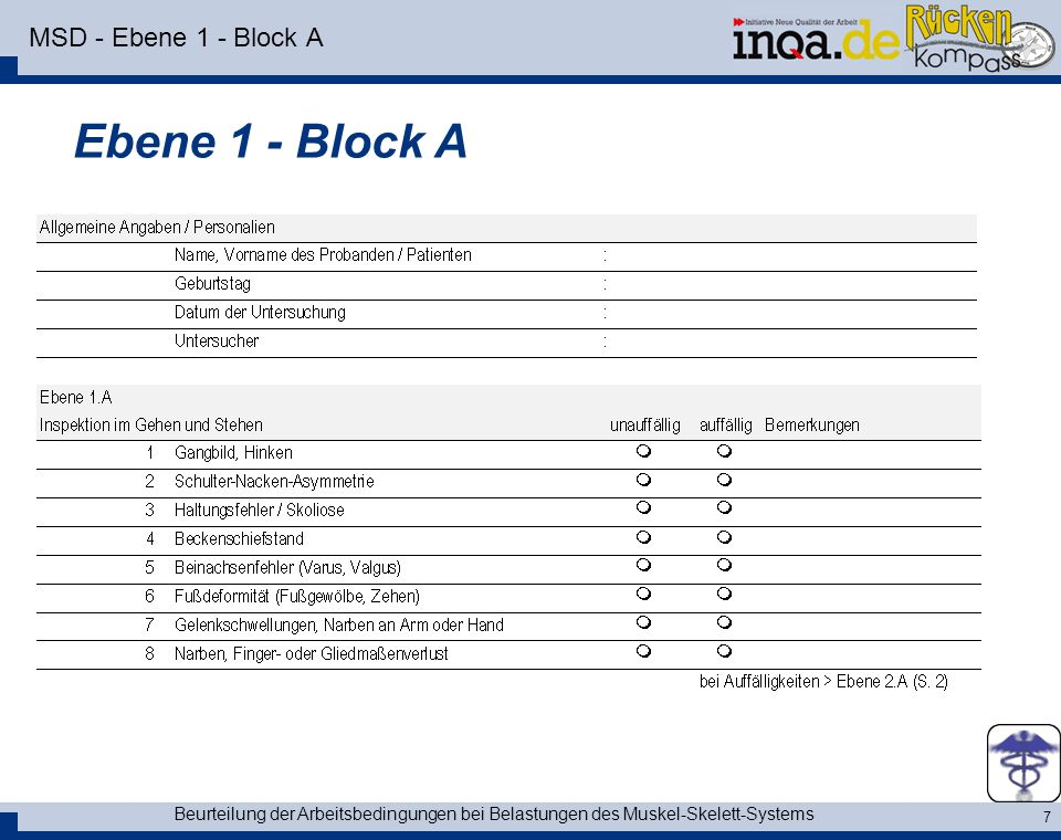 Ebene 1 - Block A MSD - Ebene 1 - Block A
