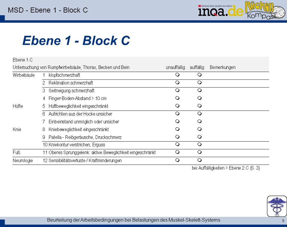 Ebene 1 - Block C MSD - Ebene 1 - Block C