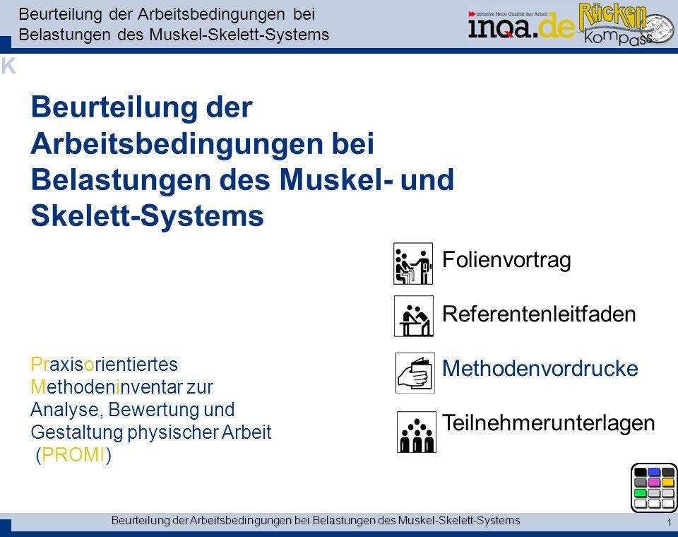 Beurteilung der Arbeitsbedingungen bei Belastungen des Muskel-Skelett-Systems