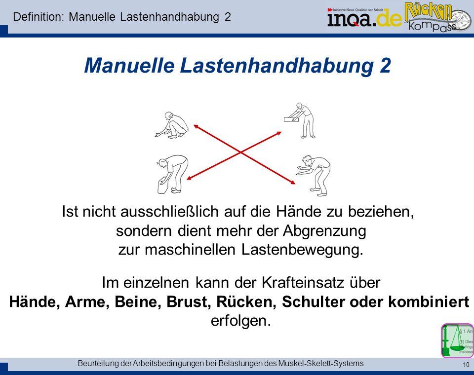 Definition: Manuelle Lastenhandhabung 2