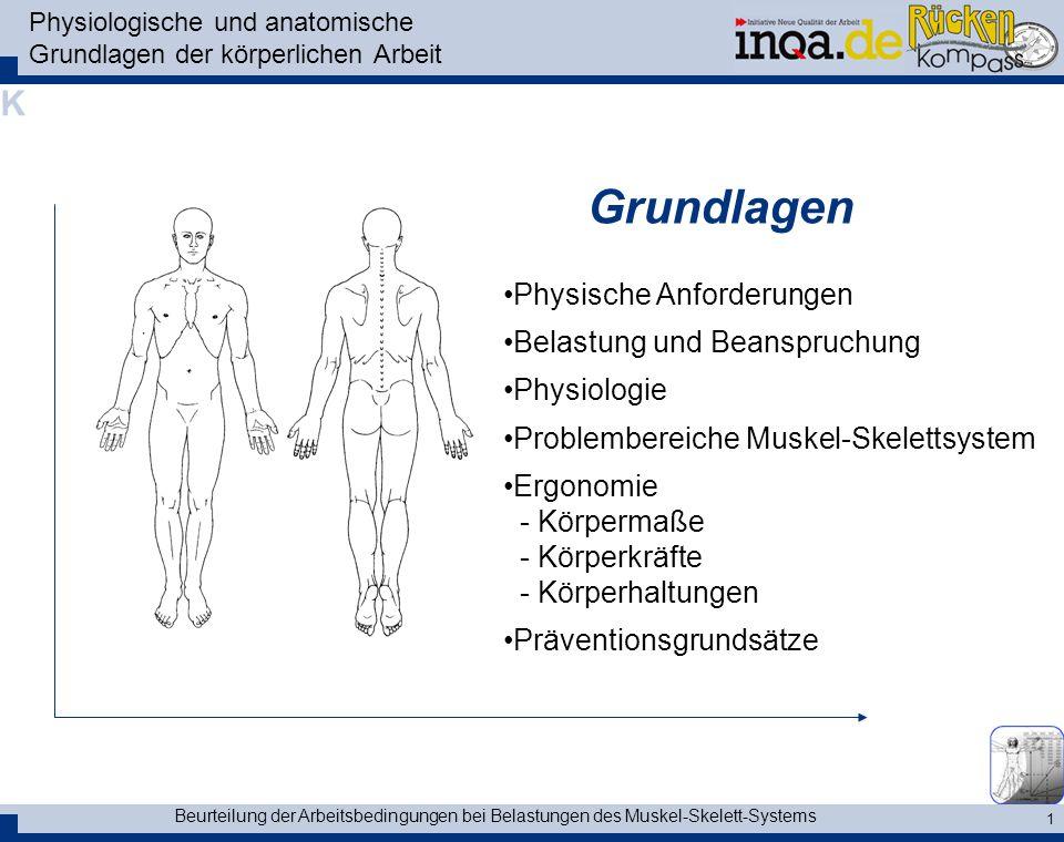 Physiologische und anatomische Grundlagen der körperlichen Arbeit