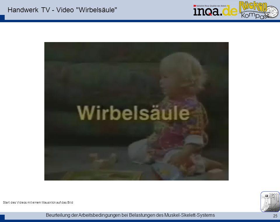Handwerk TV - Video Wirbelsäule