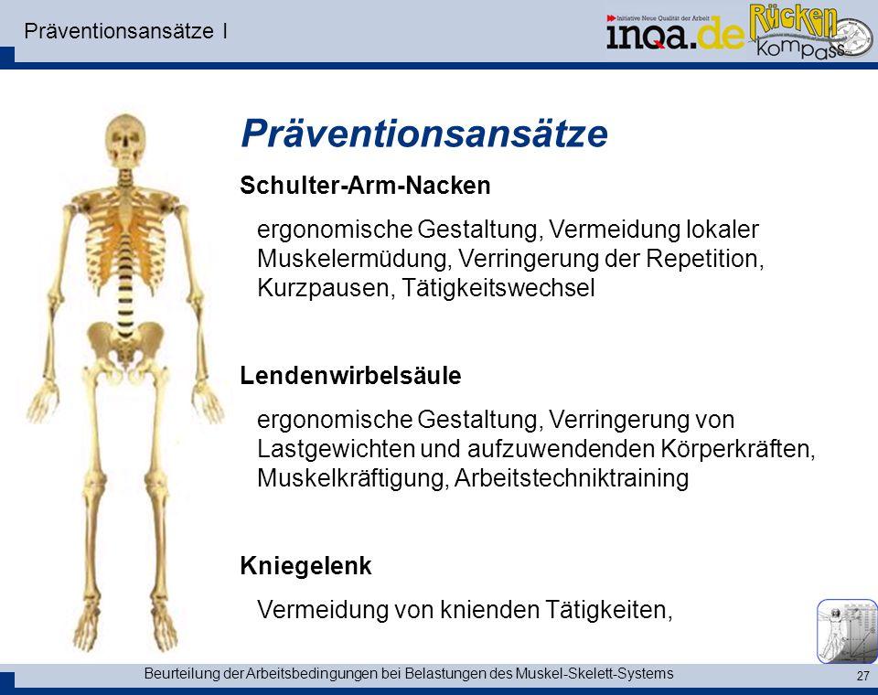 Präventionsansätze Schulter-Arm-Nacken