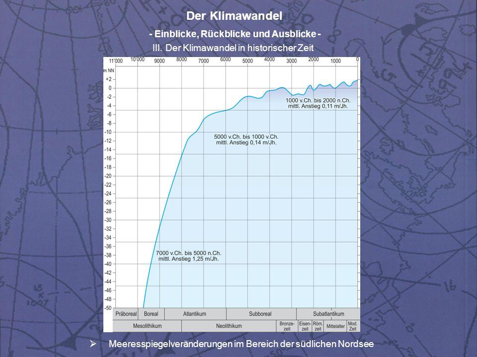 Meeresspiegelveränderungen im Bereich der südlichen Nordsee