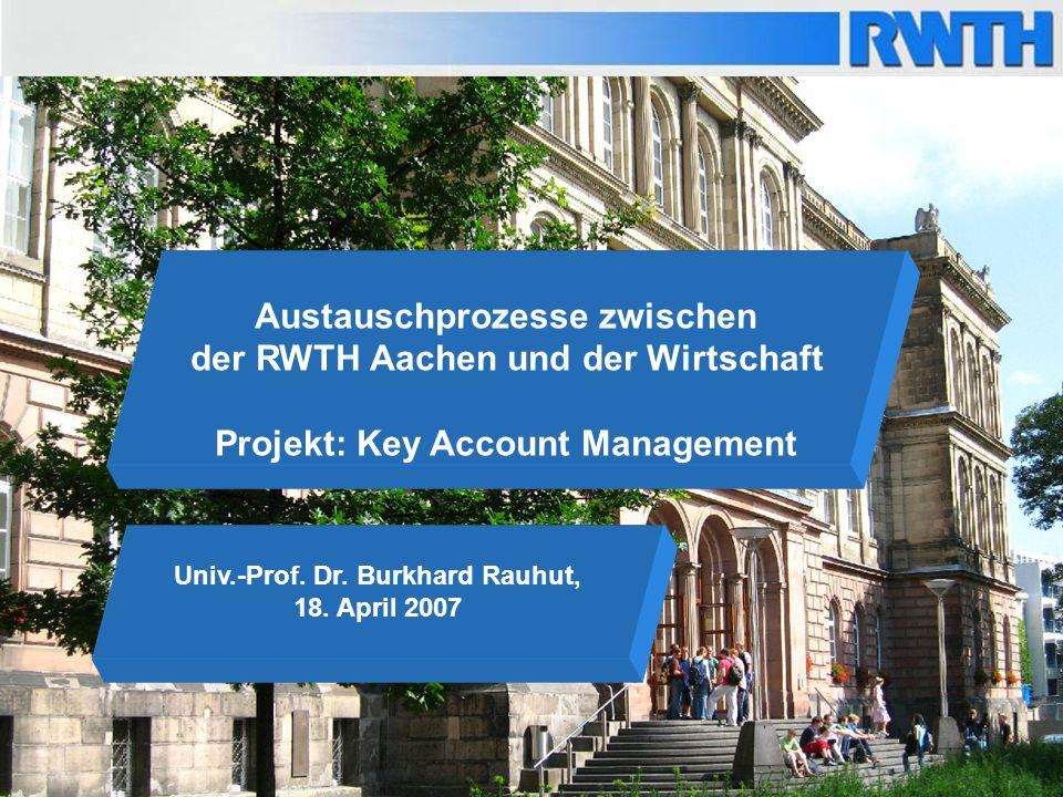 Austauschprozesse zwischen der RWTH Aachen und der Wirtschaft