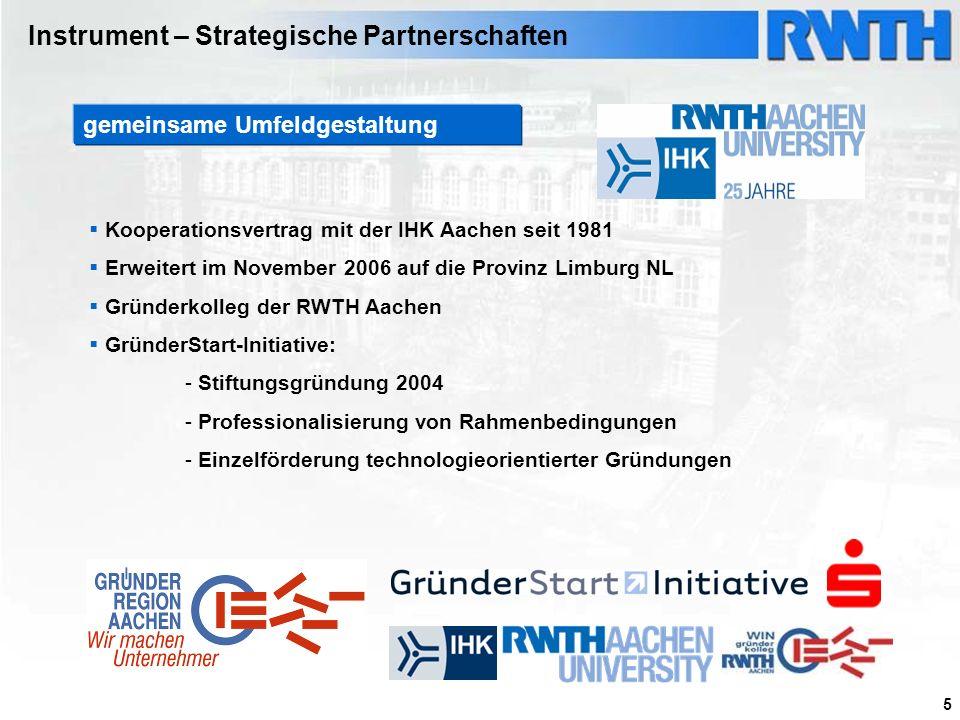Instrument – Strategische Partnerschaften