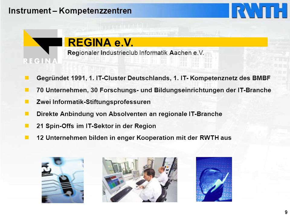 REGINA e.V. Instrument – Kompetenzzentren