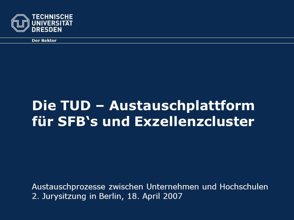 Die TUD – Austauschplattform für SFB's und Exzellenzcluster