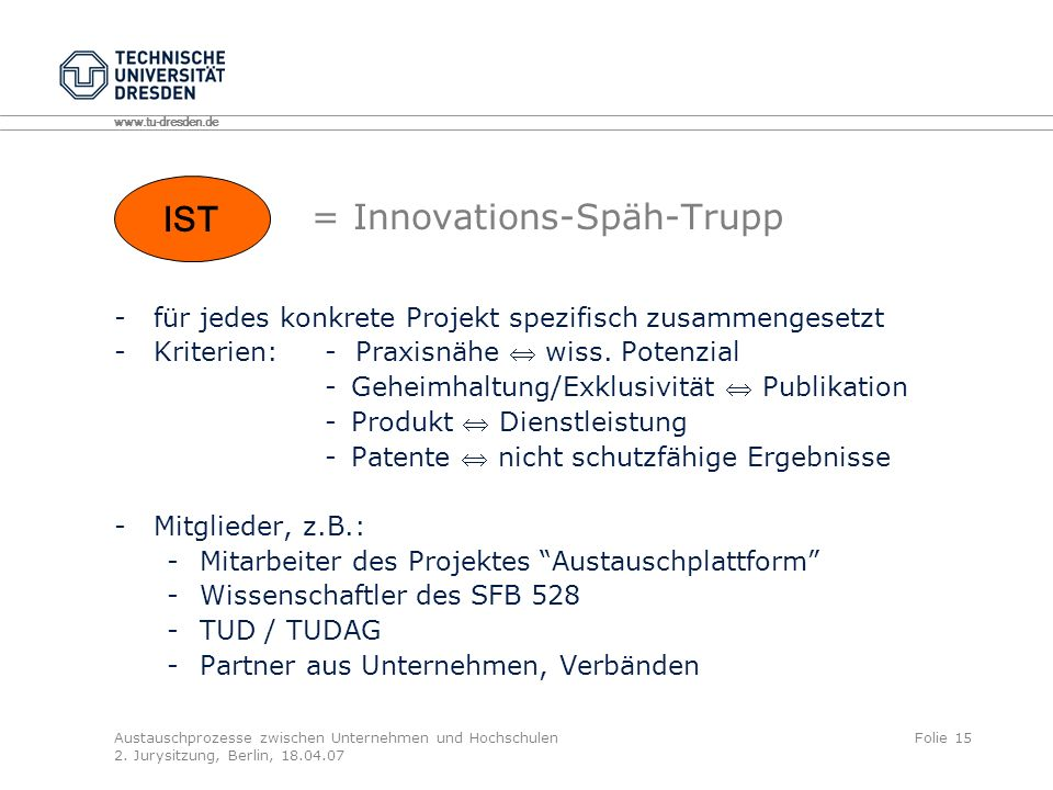 = Innovations-Späh-Trupp