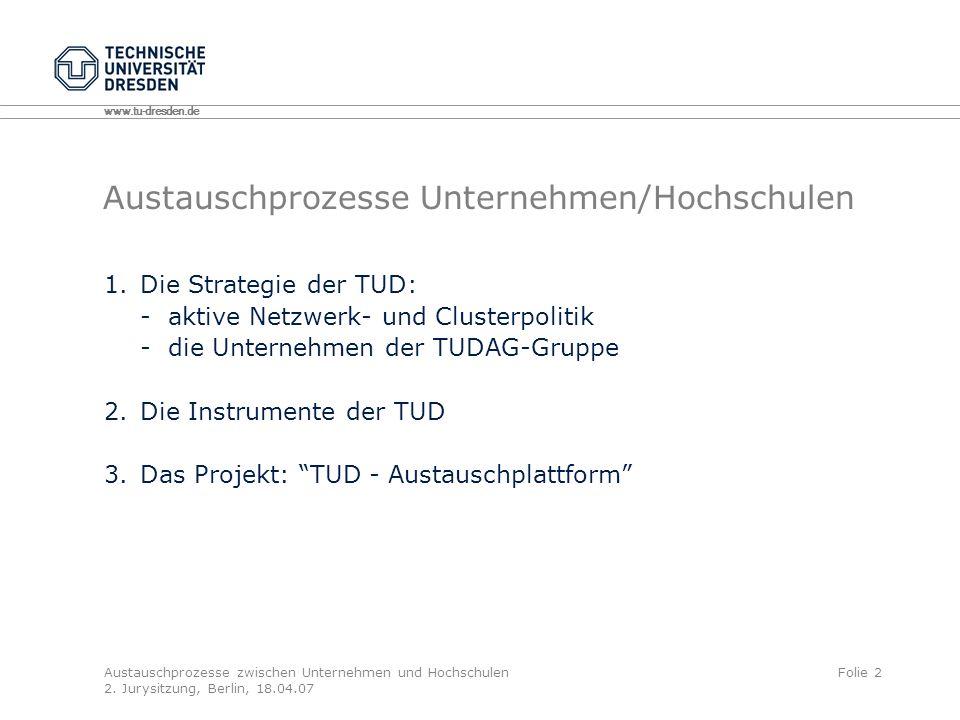 Austauschprozesse Unternehmen/Hochschulen