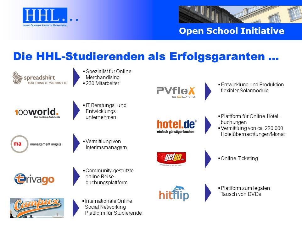Die HHL-Studierenden als Erfolgsgaranten …